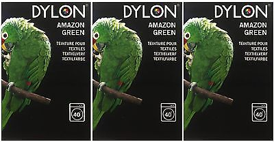 Dylon Machine Fabric Dye - Amazon Green (3 x 200g)