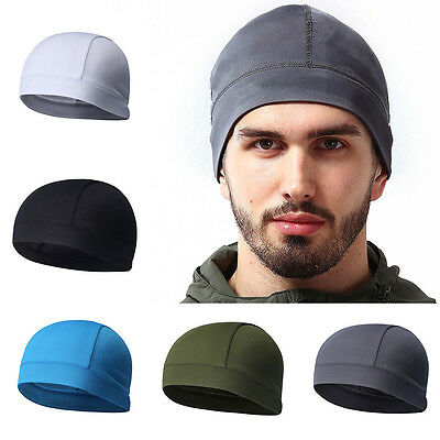 Summer Men Cap Elastic Breathable Absorb Sweat Solid Color Headband For Cycling