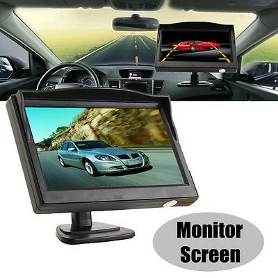 """5"""" Color TFT LCD HD Car Rearview Monitor Screen Reverse Backup Parking Camera AU"""