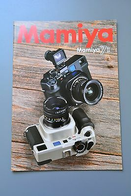 UK Sales Brochure Mamiya 7 II Medium Format Camera