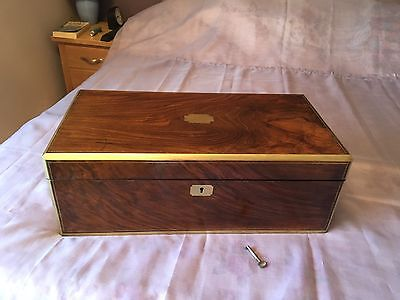 Large Victorian Writing Slope with Secret Drawers and Working Lock and Key