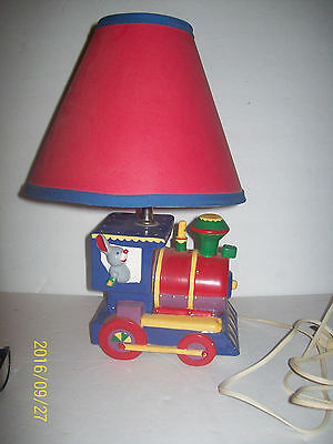 ".vintage.Elephant   train   lamp by Dolly, 15"",   works"