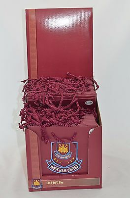 West Ham United Official 48 CD & DVD Size Gift Party Bags in Presentation Box