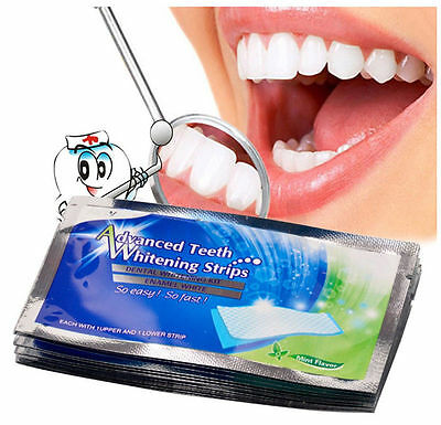 Pro 14PCS 3D White Gel Teeth Whitening Strips Oral Hygiene 360 Degree Care TOP
