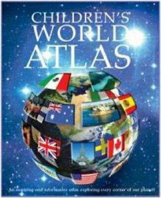 Childrens Illustrated World Atlas (Encyclopedia) Hardback Book The Cheap Fast