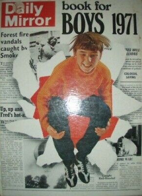 """""""Daily Mirror"""" Book for Boys 1971 Hardback Book The Cheap Fast Free Post"""