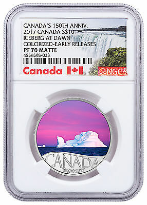 2017 Canada 150th Iceberg at Dawn 1/2 oz Silver Matte Proof NGC PF70 ER SKU48174