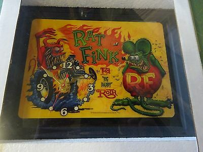 Matco Rat Fink Clock Ed Big Daddy Roth Bad News Character Brand New Sealed