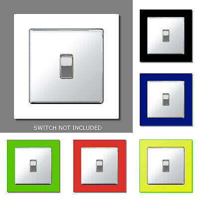 Single Light Plug Socket Switch Surround Acrylic Finger Plate Panel Coloured