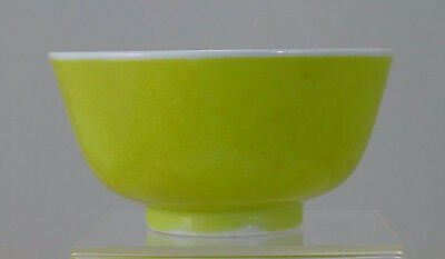Old Yellow Chinese Porcelain Bowl, c 1900