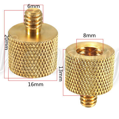 New 3/8'' Female to 1/4'' Male Brass Camera Tripod Thread Reducer Adapter Useful