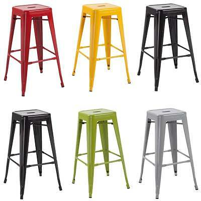 set of 2 Hoxton tolix metal stackable barstools pair, various colours