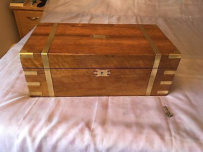 Large Victorian Writing Slope with Secret Drawers and Working Lock