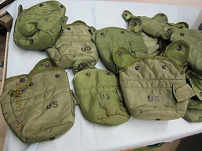 Qty 3  Military 1Qt Canteen Cover OD LC-2 Pouch Carrier w/ Alice Clips EXC  *