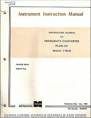 MONSANTO Manual 1104B FREQUENCY CONVERTER PLUG-IN