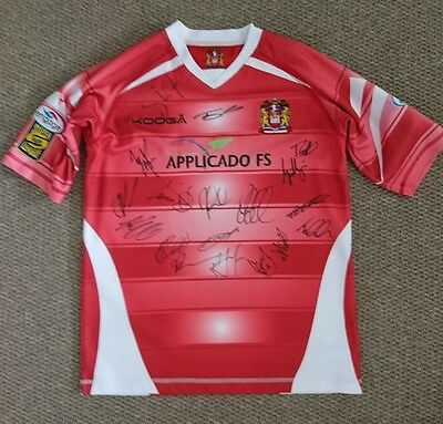 Wigan Warriors 2017 squad signed rugby shirt  PROOF AFTAL