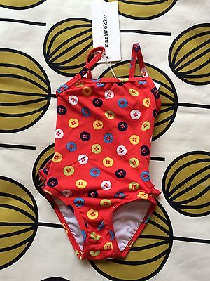 Marimekko Swimming Costume Buttons Red Multi 12 Months New with Tags. So Cute!