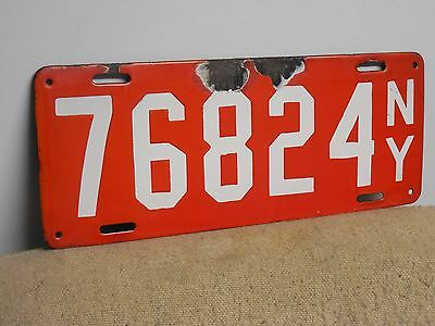 Original Pre Date 1912 New York State Porcelain License Plate