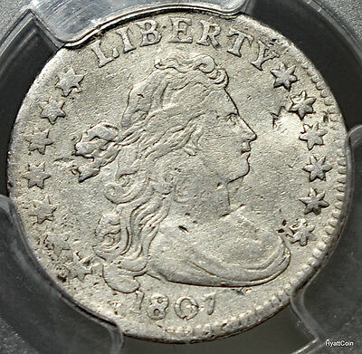 1807 Draped Bust Silver Dime 10C PCGS Genuine XF Details Damage