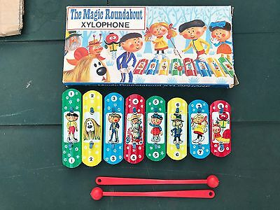 Vintage Boxed The Magic Roundabout Xylophone By Green Monk Combex Toy Bbc