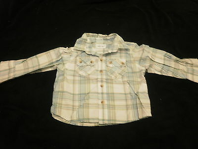 Primark Early Days Baby Boy's Pale Blue & White Checked Shirt size 6-12m
