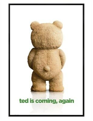 Ted 2 Gloss Black Framed Is Coming, Again Maxi Poster 61x91.5cm