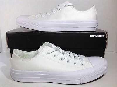 Converse Mens Size 5 / Women's Size 7 CT II OX White Athletic Shoes ZJ-124