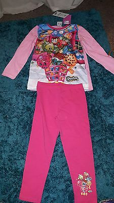Girls Shopkins pyjamas 3-4yrs from George NWT