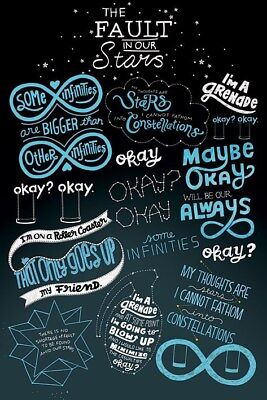 New The Fault In Our Stars Typographic Poster