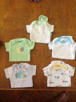 Gerber 5 Pack Gender Neutral Elephant Mommy And Me Onsies Size 0-3 Month Cute!