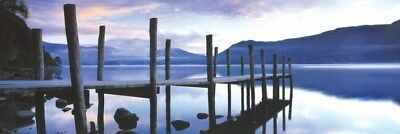New Jetty At Derwent Water The Lake District Panoramic Poster