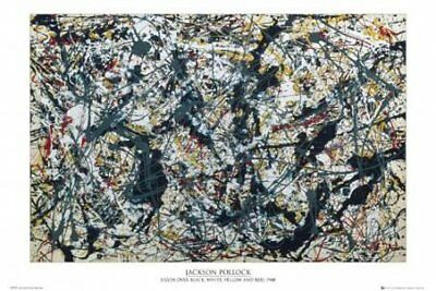 New Silver on Black By Jackson Pollock Poster