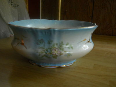 antique limoges O.C.C.O. decorative bowl  p.dace A119? 8 1/2 round 3 3/4 tall