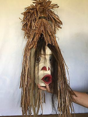 "Pacific NW Native American ""Puk-Nes"" Carved Mask  Large, Very collectable."