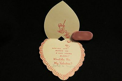 "Vintage Black Americana ""GAY BLADE""  valentine card 1940s By: A-meri-card"