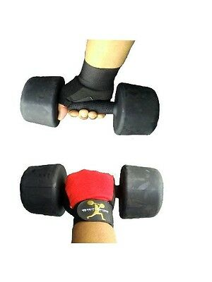 Weight Lifting Gloves Padded Long Strap Wrist Wrap Body Building Cycling Gym Fit