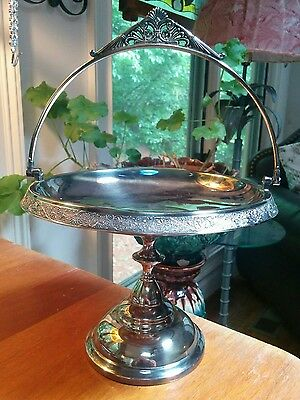 Victorian Middletown silver plate brides basket ornate Aesthetic edge design