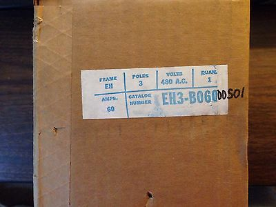 Westinghouse Ite Eh3-B060  60-Amp, 3-Pole, 480-Volt Breaker New In Box Free Ship