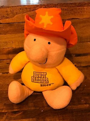 Vintage Cowboy ZIGGY 1980's Plush Howdy Partner Stuffed Toy