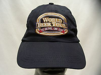 World Beer Tour - 110 Beers, One Bar - Old Chicago - Adjustable Ball Cap Hat!