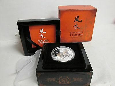 Feng Shui Elephants Collectable Pure Silver Coin with all OGP
