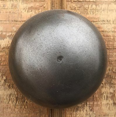 "Vintage Antique Stamped Steel & Brass Doorbell ""inside-Outside"" With Key"