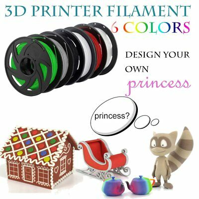 3D Printer Filament PLA 1.75mm 1kg/Roll Multiple Colours 300M MakerBot ProX TOY^