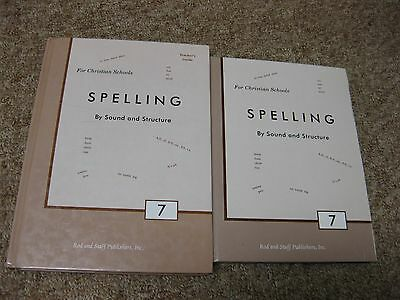 """Rod and Staff """"Spelling 7"""" Book with Teacher's Guide"""