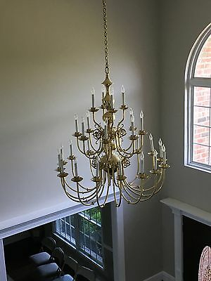 Gorgeous 28 Bulb Brass Chandelier
