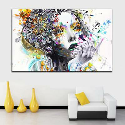Modern Wall Hanging Canvas Picture HD Print Painting Artwork Decor Girl-L