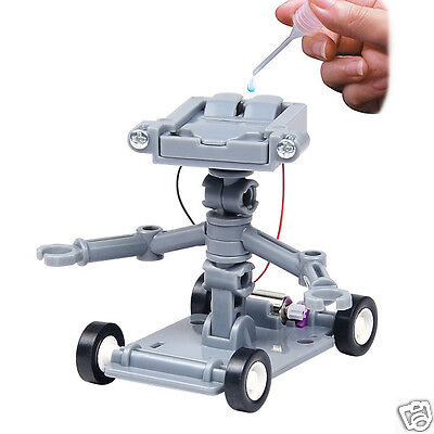 DIY Assembly Salt Water Powered Robot Kit Kids Science Develop Educational Toy
