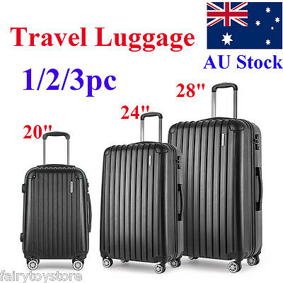 1/2/3PC 20/24/28''Luggage Suitcase Trolley Set TSA Travel Carry On Bag Hard Case