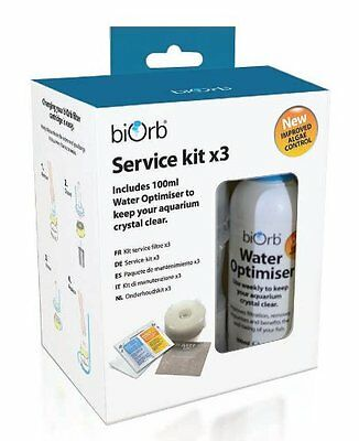 Pack Of 3 Biorb Service Kit W/ Water Optimiser Pet New UK SELLER
