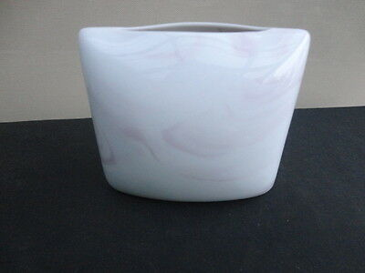 Rosenthal Studio Line Queensbury  Pink and White Marble Design  Pillow Vase